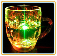285 ML Beautiful Party Use   LED flashing bear cup With Color Retail Box Drop Shipping