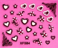 Sparkling 3D Nail Art Sticker Decal Flower Makeup Tips