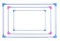 Cross stitch box general embroidery frame Large embroidered stretch 40 30cm rack series