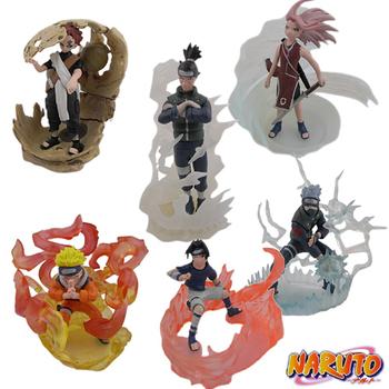 NARUTO Gaara Iruka Sakura Gashapon Figure Set of 6 pcs Wholesale Toys Anime Action Figures