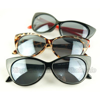Super Cateyes Vintage Inspired Fashion Mod Chic High Pointed Cat-Eye Sunglasses Whloesale 10pcs/Lot Free Shipping