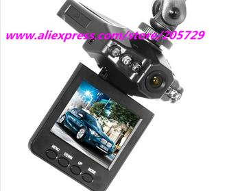 "Free Shipping H198 Car DVR Video Registrar with 115 Degree View Angle 2.5"" LCD 6 IR LED Night Vision DVR Car Camera+retail box"