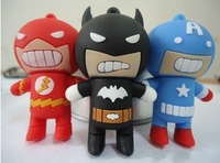 4GB 8GB 16GB 32GB Cartoon Batman The Flash Super Man USB flash memory drive Pen Captain America U disk