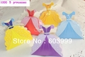 1000 Pick Your Styles Princess Dress Shaped Favor Boxes Wedding Bridal Girls Birthday Favor Candy Box Gift Boxes Free Shipping