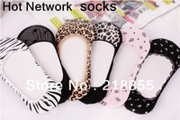 2013 New Fashion Socks Free Shipping By China Post -10Pairs/Lot,Stealth Lace Ship Socks(Color Same As Picture),Best-Selling