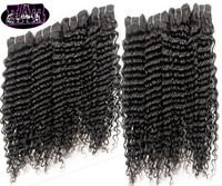 High quality 3 pcs lot rosa hair products curly virgin brazillian human hair extensions machine weave color 1b free shipping