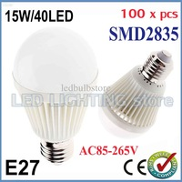 100pcs/lot Bubble Ball Bulb AC85-265V 15W E27 High power Energy Saving Ball steep light