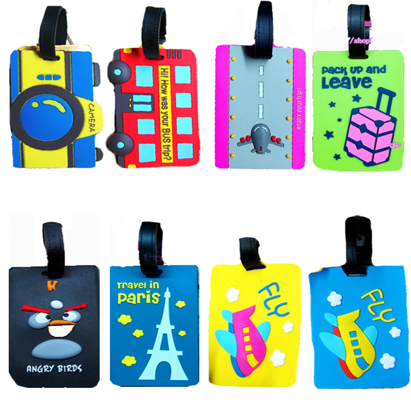 Travel luggage tag testificate cards trolley luggage finaning pvc school bag finaning multicolor(China (Mainland))