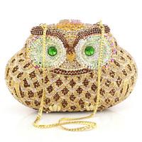 704a50 full rhinestone owl bag evening bag women's bag fashion banquet bag princess bag