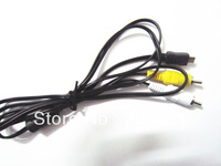 100pcs/lots Micro USB Male To 2 RCA AV Audio Video Adapter Cable For Tablet A