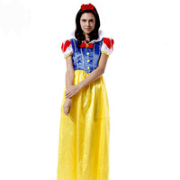 free shipping(mix $10) Masquerade cosplay clothes performance wear clothes festival adult snow white princess dress