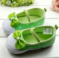 Wholesale 2pcs/lot  new 2013 Small pure and fresh and green baby shoes soft bottom  children's shoes,free shipping