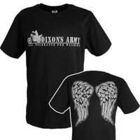 fashion t shirt  the walking dead  cos t shirt  dixon's army t shirt  6 size free shipping