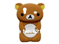 3D Brown Rilakkuma Bear TPU Rubber Skin Case for Samsung Galaxy Ace GT-S5830