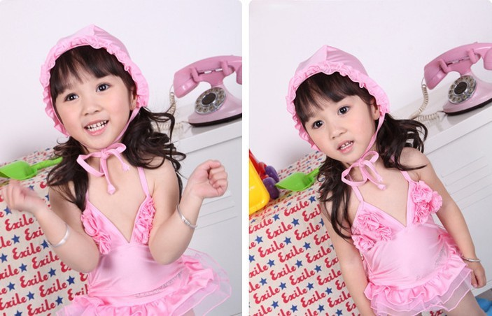 HOT Sales 2013 Baby Girl Swimsuit Kids Swimwear Girl Bathing Suit 5/Size 5pcs/1lot(China (Mainland))