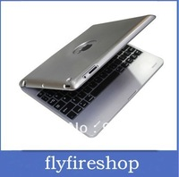 FREE SHIPPING! 5pcs Wireless Bluetooth Keyboard for iPad 2 3 Aluminium Case 4000mAh Charging keyboard case