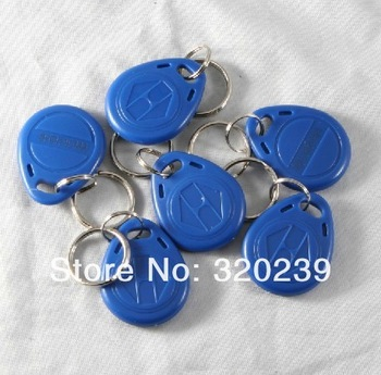 300pcs/Lot RFID Proximity Rfid Tag Key Rings 125Khz Smart Card Blue Yellow Red