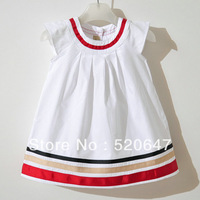 Free shipping New(2 colors) Baby Shirt,stripes baby girls dresses ,children/kids dress,Baby Wear