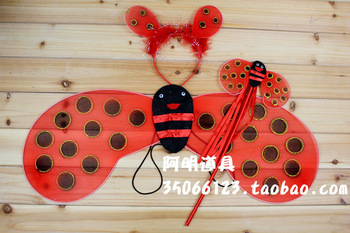 70g halloweenish beetle ladybug wings set piece red