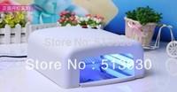 Better Material, 36W 220-240V Gel Curing Nail Art UV Lamp(EU Plug) with 4pcs 9W 365nm Bulb GW071 Free Shipping ,Dropshipping