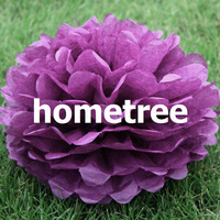 """8"""" Purple Tissue Paper Pom Poms Flowers Home Garden Party Wedding Birthday Bridal Decoration Gift Free Shipping"""