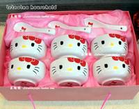 - 12 HELLO KITTY bone china bowl set kitchen supplies wedding gifts