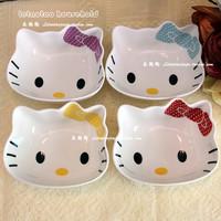 Hellokitty baby ceramic bowl rice bowl child cartoon bone china tableware