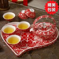Tea set flower tea set personalized tea set ceramic tea set gift wedding gifts