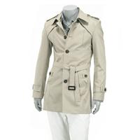 free shipping South Korean brand noble temperament imported fabrics fashion metrosexual man's coat of black / khaki 0717