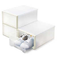The hsbd household threesoft thick transparent plastic drawer shoe box storage shoe box jewelry box