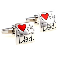 Love my dad male cufflinks nail sleeve 160891