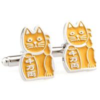 Gustless 9 lucky cat style cufflinks nail sleeve 170961