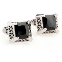 Zircon series male square cufflinks nail sleeve 181421