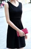 Free Shipping New arrival 2013 V-NECK Dresses Women Korean fashion Slim Sexy  dress Skirt