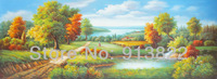 Free Shipping Oil Paintings Painted by Hand High Q. Landscape Art  Wall Decoration