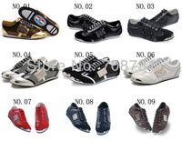 Wholesale/Retail New Fashion Mens Casual Lace-Up Faux Patent Leather Leisure PU Stripe Plaid Skateboard Nubuck Sneaker Shoes