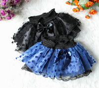 Retail 1pcs free shipping New Fashion Kid Girl Tutu Skirt 2colors polka dot lace Girl Princess skirt Children Clothing