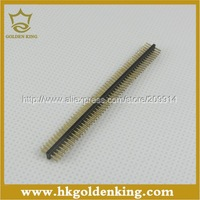 20pcs/lot  2x40 Pin 1.27mm DIP Double Row Pin  Square Male Pin Header Connector  Free Shipping