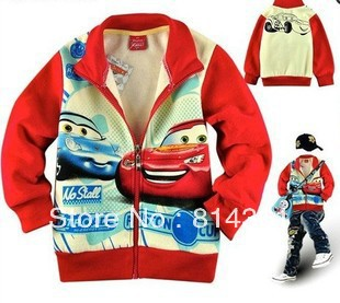 Best Selling!!Baby boys hoodies cotton kids hooded coat Cartoon Cars sweatshirts children coats Free Shipping
