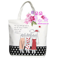 Cat canvas bags shopping bag tote