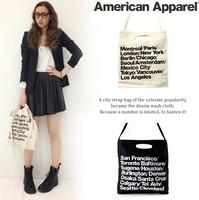 Fashion street american apparel letter canvas bag shoulder bag messenger bag 3