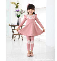 Female  layered  2013 children's clothing   one-piece   puff   and autumn