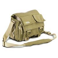 Khaki Canvas National Geographic NG 2345 DSLR Camera Shoulder Bag for Nikon Canon Sony Olympus Pentax Fuji Camera waterproof