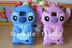 3D Stitch Silicone Cover Case for Samsung Galaxy S2 SII i9100 Free Shipping(China (Mainland))