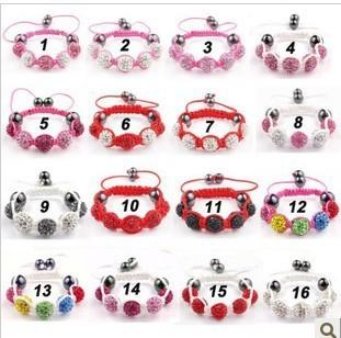 Lovely fashionable children children Shamballa shambhala bracelet, 32 kinds of colors to choose