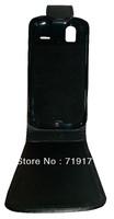 1pcs/lot free ship New Black Shine leather case for HTC G22 Amaze 4G ,Pouch case   +1pcs film