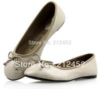 Snake skin texture women shoes flat shoes single shoes,free shipping