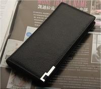 Free shipping+2013 new men's long wallet+genuine Leather + Clutch Cente men Purse ,100% guarantee+wholesale
