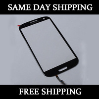 Replacement Glass Lens Screen+Cable For Samsung Galaxy SIII S 3 i9300 Pebble Blue free shipping