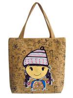 Headcounts 2012 small canvas bag eco-friendly bag one shoulder women's handbag